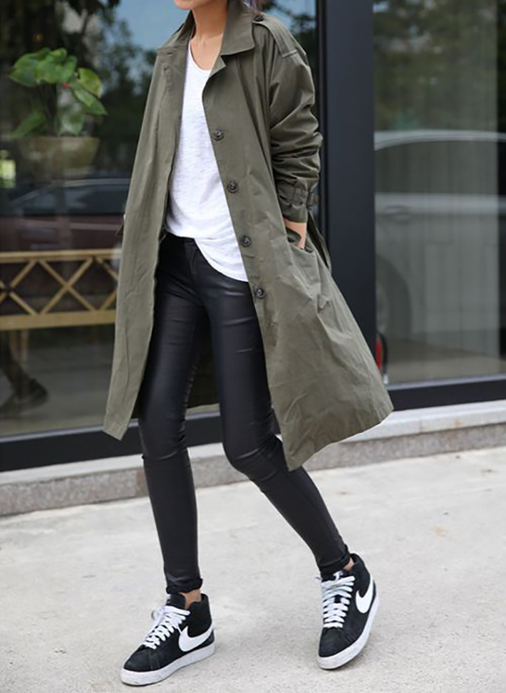 Military style green olive street style inspiration10