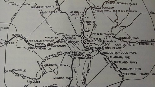 Early WMATA proposed routing map, late 1960s
