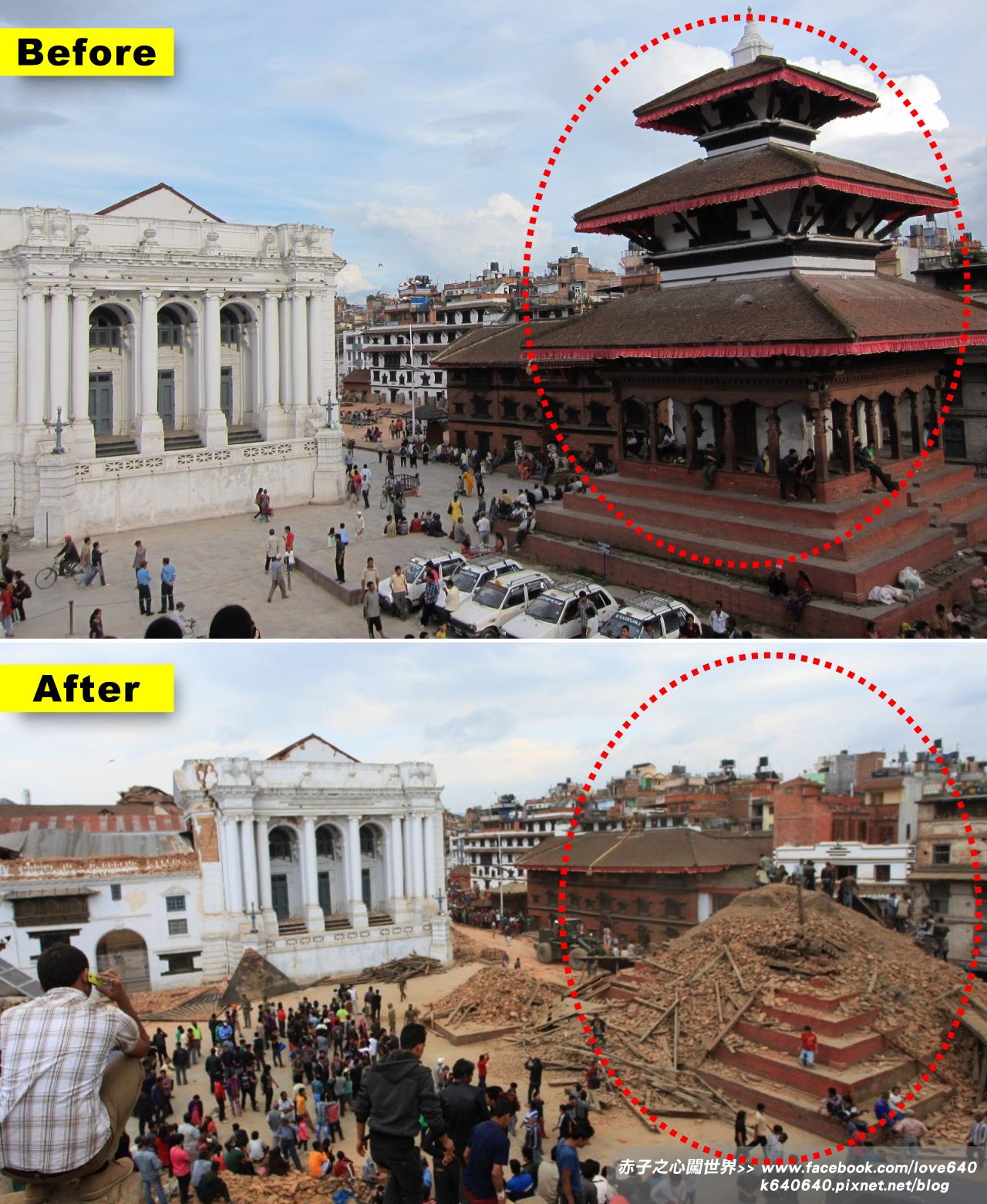 Nepal Kasthamandap earthquake-Durbar Square