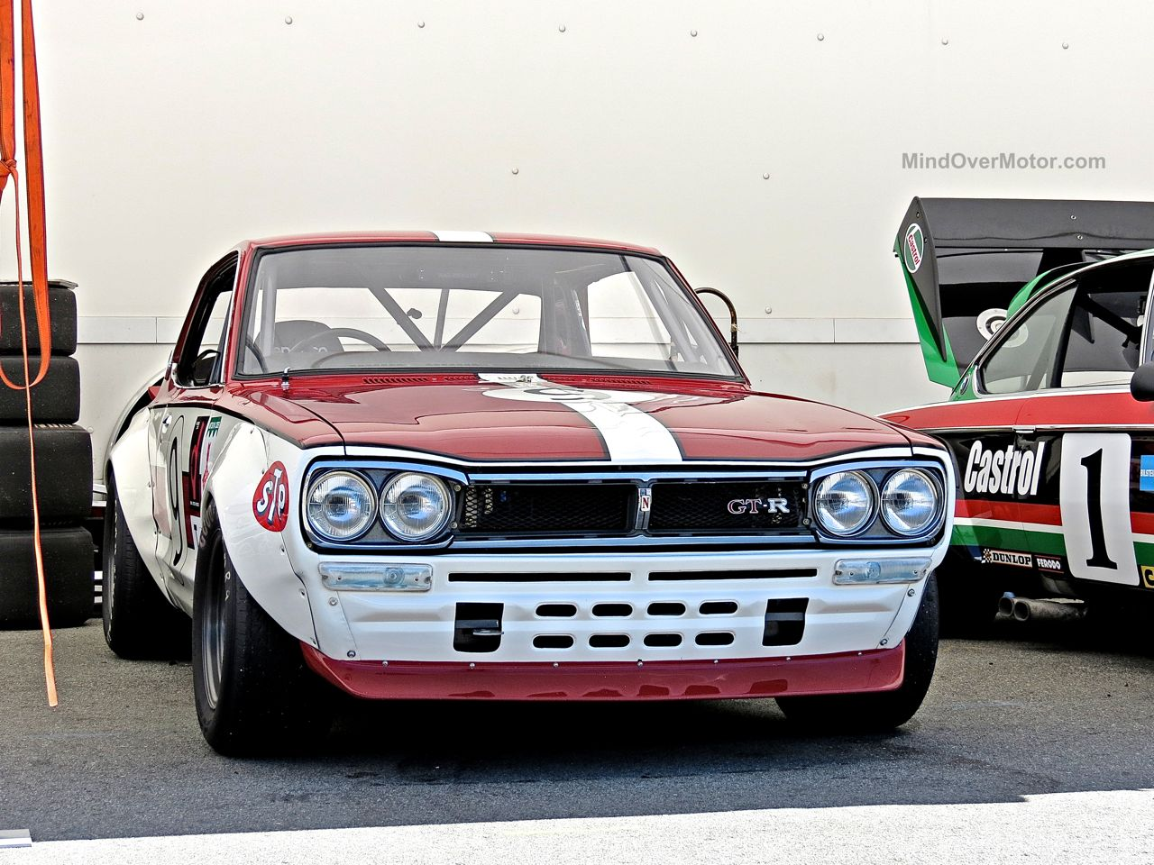1971 Nissan Skyline 2000GT-R Hakosuka Race Car at Laguna Seca