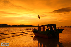 Fishing Boat at Sunset, Thailand
