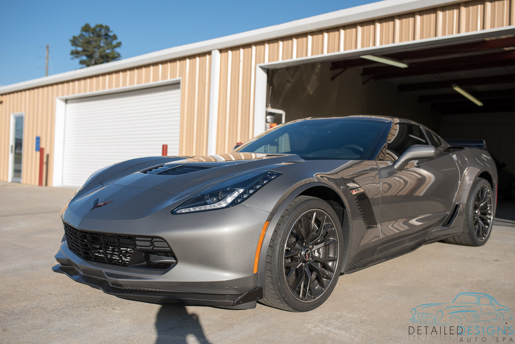 C7 corvette z06 paint correction clear bra wrap for Car painting atlanta