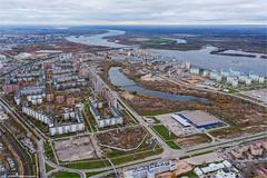 Волга и Мещерское озеро в Нижнем Новгороде