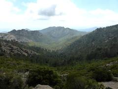 Le vallon de Punta Pinzuta depuis le piton rocheux avant le col 910m