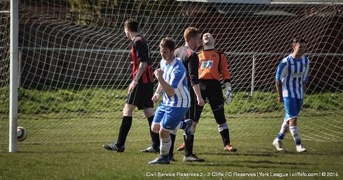 Cliffe FC 2ndXI 2 - 2 Civil Service Res 18Apr15