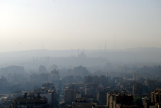 Sunrise haze in Cairo, Egypt