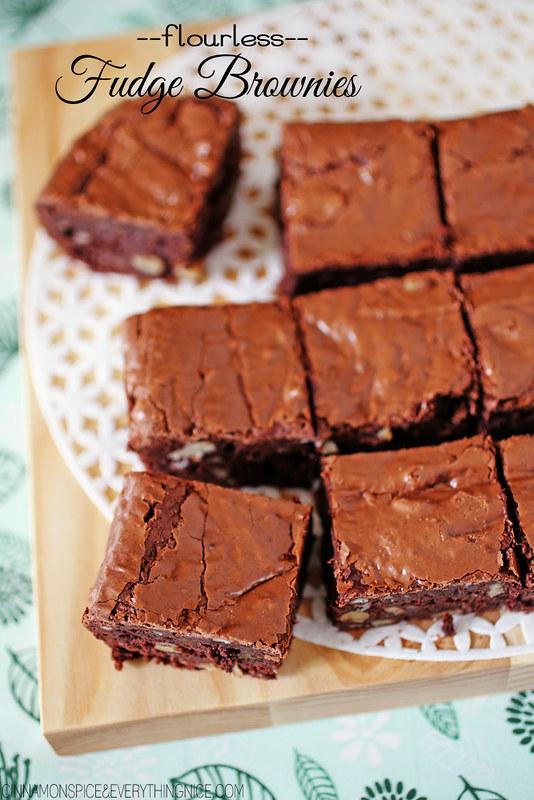 Flourless Fudge Walnut Brownies