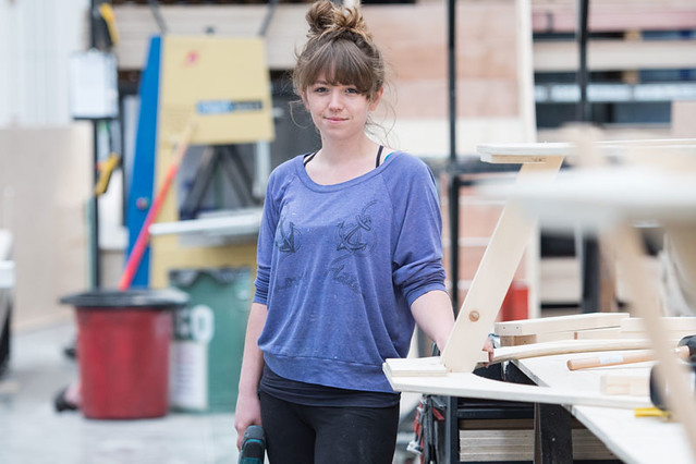 Scenic Carpentry Apprentice, Lucy Kevill ©ROH. Sim Canetty-Clarke, 2015