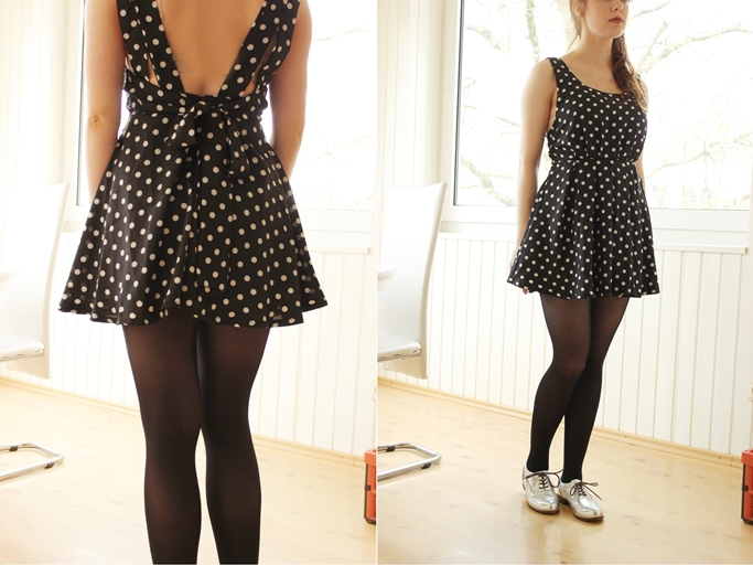 bow polka dot dress-tile