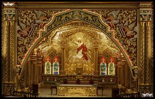 The Altar of Asia's Biggest Church St.George Forane Church, Edappally, Kochi, Kerala, India