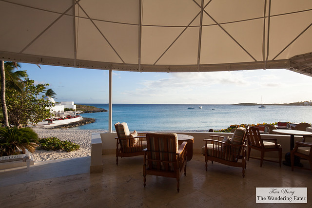 Unobstructed views of the beach and partial view of the restaurants of Cap Juluca