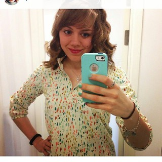 Repost of my super cute sister wearing the #wikstentova I made her!  Isn't she adorable?!