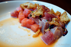 20150426-02-Ahi tuna with watermelon at Cork and F…