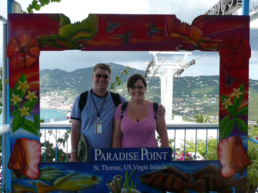 Ken and I at Paradise Point in St. Thomas