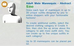 Adult Male Mannequin Abstract