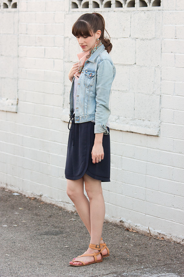 Drapey Skirt, Denim Jacket, Rocksbox