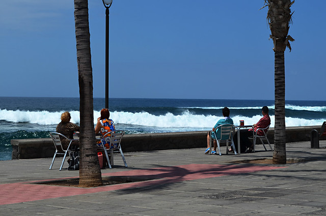 Lunch on the prom, Punta del Hidalgo, Tenerife