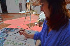 Ana Sanchez Lucas, Pintando en directo