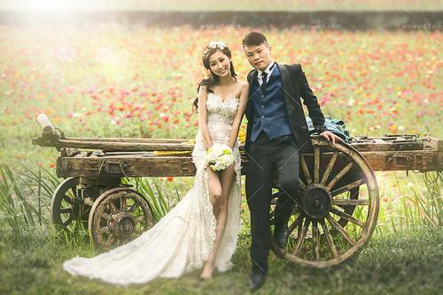 前短後長婚紗禮服 婚紗攝影公司 婚紗照攝影師 拍婚紗