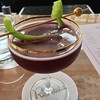 Confederations Cup at Renata! Tequila, carpano antica, raspberry gomme, lime, Lambrusco. Beautiful & delicious!