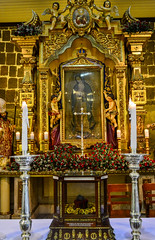 The stone relic from Tepeyac Hill The Chapel of the Tilma inside Our Lady of Guadalupe Parish Church in Pagsanjan, Laguna