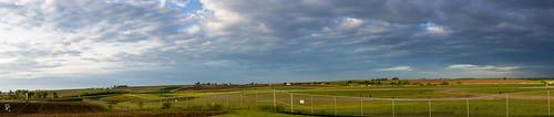panorama clouds sunrise pano iowa dubuque dubuqueregionalairport