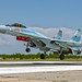 Su-35S RF-95498 during Aviadarts-2016 flight skills competition in BELBEK airfield at Sevastopol, Crimea by The best from aviation