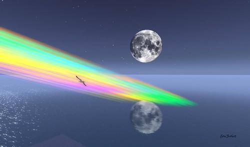 Cosmic Flare/Lunar Reflection