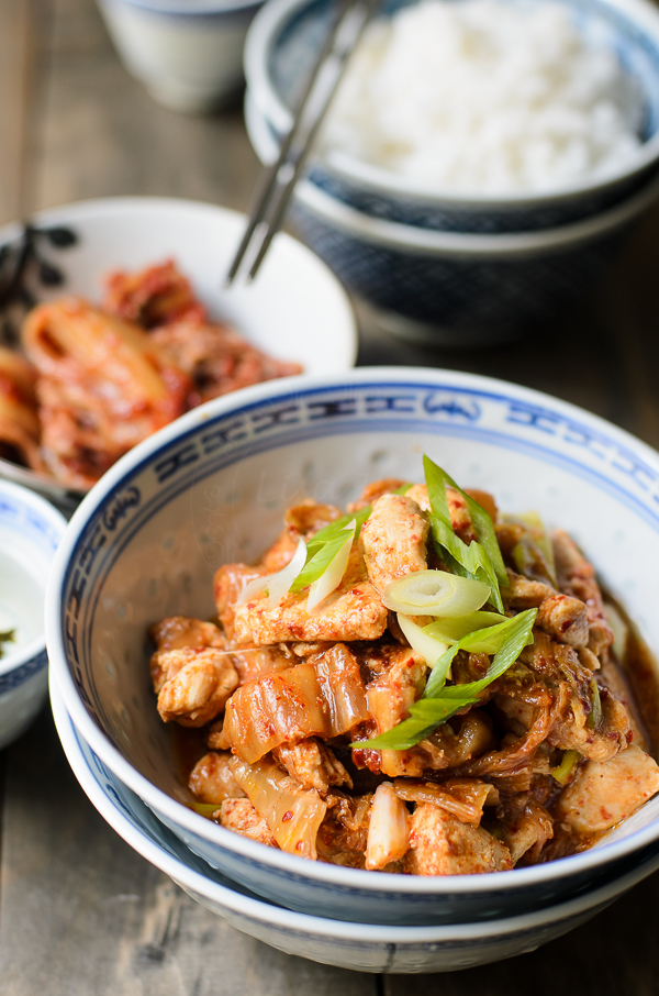Chicken Kimchi Stir fry