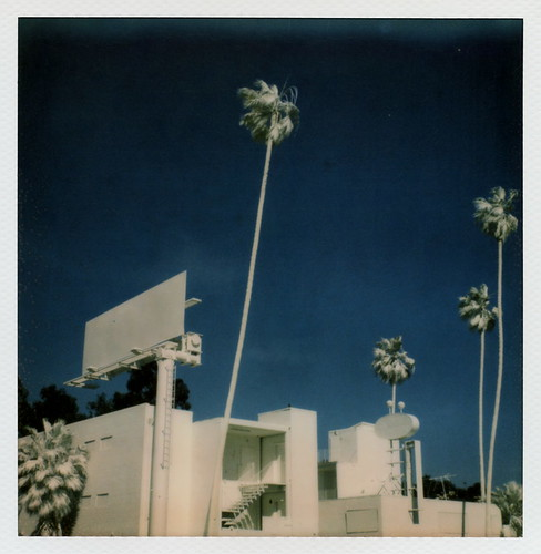 california ca street blue trees sunset toby 2 sky urban test white lake color art abandoned film sign silver project palms french polaroid sx70 for la los artist boulevard pacific angeles ghost vincent motel palm billboard projection tip cameras installation albino type instant bates 20 hancock gen derelict pioneer generation fronds blvd impossible the gen2 lamouroux tobyhancock impossaroid