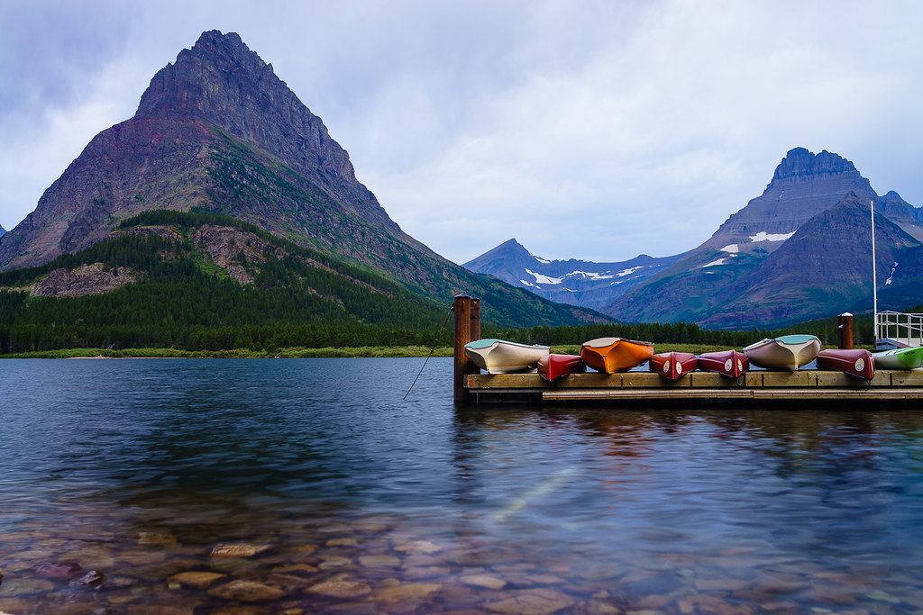 Glacier Nation Park Montana - Swiftcurrent Lake