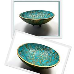 "polymer clay Ring Holder Dish 3.5"""