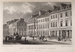 St Andrew Square in the New Town in Edinburgh, Scotland c1829