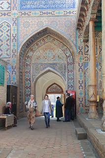 Entrance to Shah-e Zinda, Samarkand, Uzbekistan
