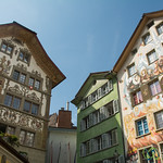 Colorfully Painted Buildings of Lucerne, Switzerland
