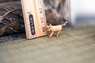 Miniature wooden jointed kitten