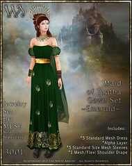 Maiden of Tuatha Gown Set-Emerald_Promo Art