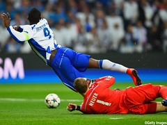during the UEFA Champions League Quarter Final first leg match between FC Porto and FC Bayern Muenchen at Estadio do Dragao on April 15, 2015 in Porto, Portugal.