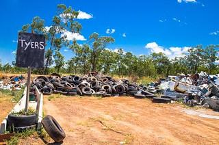 Tyres .... Jabiru  rubbish tip. Kakadu National Park