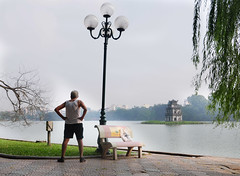 Man doing the exercise
