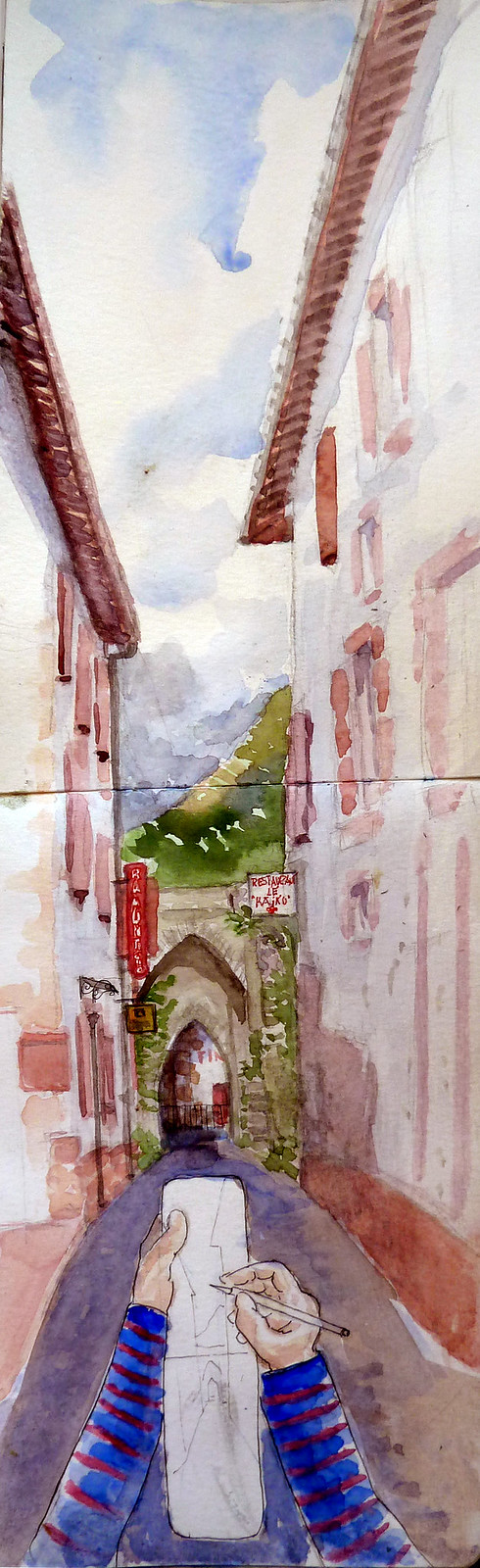 47th Sketchcrawl Donibane Garazi/ Saint Jean-Pied-de-Port