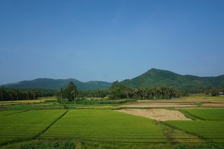 Vietnam countryside seen from the train