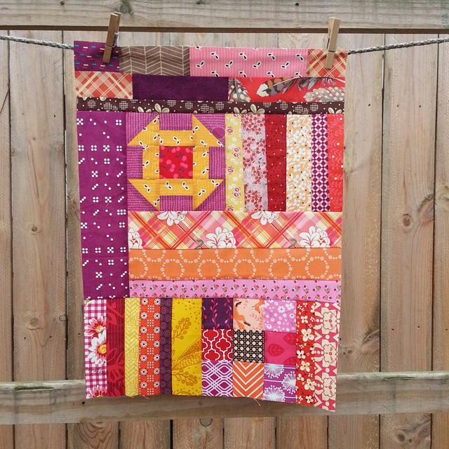 This was so fun to sew. It was hard to stop! @quirkygranolagirl #fantasticquiltvoyage
