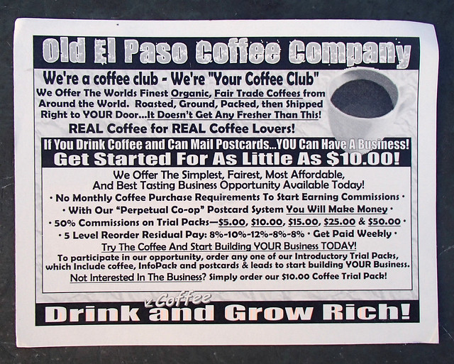 Smartz Marketing Old El Paso coffee company scam