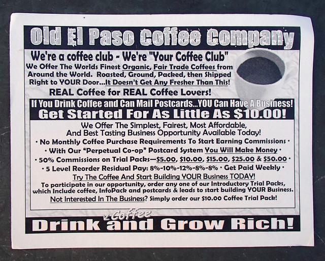 Smartz Marketing Old El Paso coffee company scam