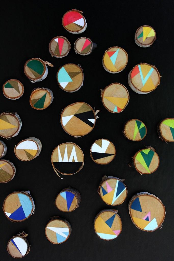 diy II geometric wooden magnets
