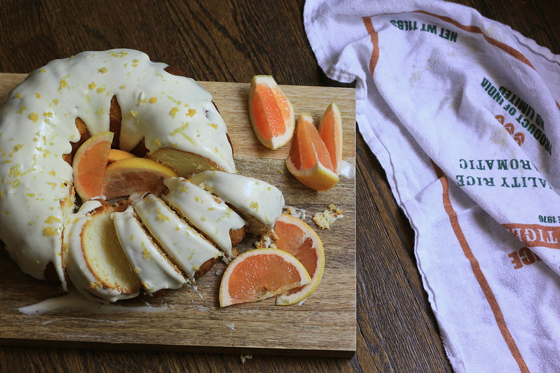 Grapefruit Sugar Pound Cake | Southern Soufflé