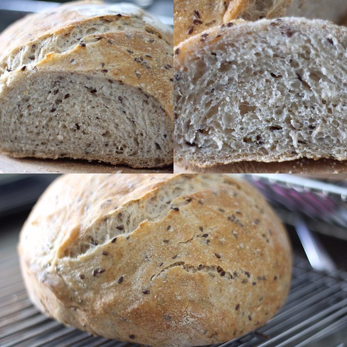 Flaxseed and Oat Sourdough