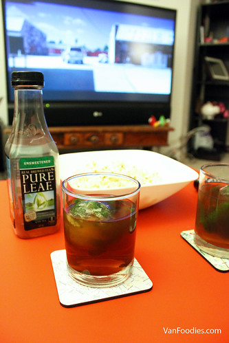 Spiked Iced Black Tea for Movies
