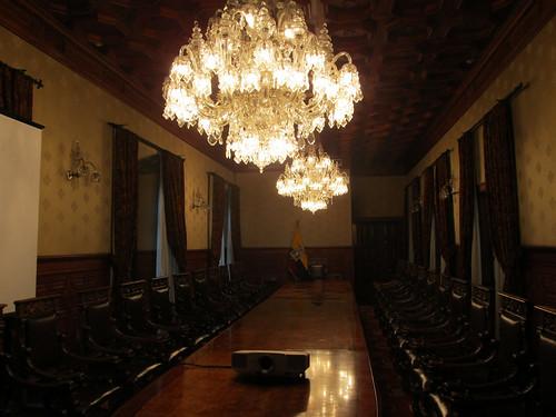 Quito: el Palacio del Gobierno et sa salle de réunion